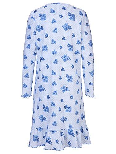 Damen Nachthemden im Floraldruck by Harmony Bleu/Ecru