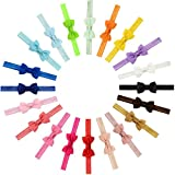 GBATERI Boutique Qualität 20pcs Baby Mädchen Haar Bogen Haar Bands Elastische Stirnbänder mit 2,7 'Haar Bogen für Kleinkind Neugeborene Babys Kinder Foto Zubehör (20 Farben)