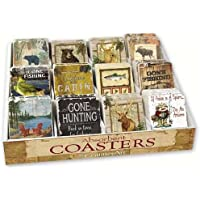 Counter Art CART91715 Lodge Life Assortment with Counter Display 72 Coasters