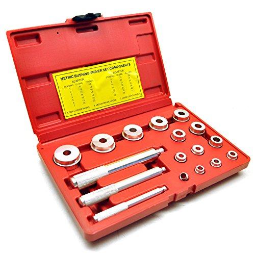 Bearing race seal bush driver set / tool / kit aluminium mm 18pc AT237