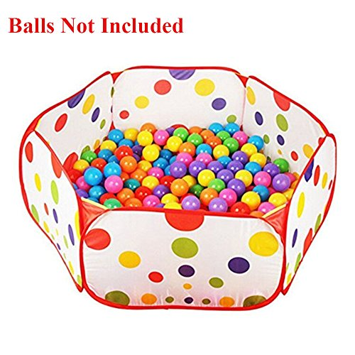 niutop-kids-play-ball-pit-pool-tent-playpen-yard-house-indoor-and-outdoor-easy-folding-cute-polka-do