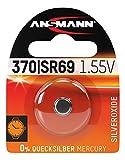 ANSMANN 1516-0018 silberoxid Knopfzelle SR 69/370/371 für Garagentoröffner, Alarmanlage, Funkauslöser silber