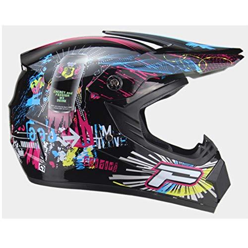YYFRB Casco in PVC con Fascia Regolabile, Casco da Moto Antinebbia, Casco da Moto Integrale, Casco (Color : C)