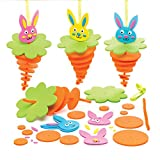 Baker Ross AW199 Bunny Stacking Decoration Kits, 6 Stück, Sortiert