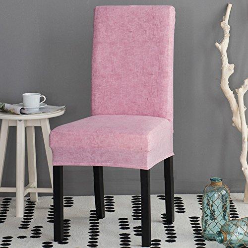 Chaircovers 2Stück Polyester Stretch Stuhl Cover schützende Elastic Spannweite Schonbezug universal nosefitting by Spandex, Polyester, rose, 4 PCS