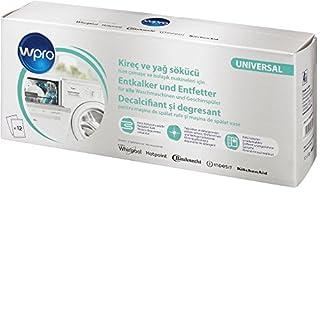 Wpro DES124 - 3in1-Profi-Entkalker für die Entkalkung, Reinigung und Pflege von Waschmaschinen und Geschirrspülern