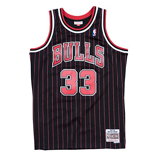 Mitchell & Ness - Maillot NBA swingman Scottie Pippen Chicago Bulls 1995-96 Hardwood Classics Mitchell & ness noir taille - XXL