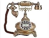 Petrichore Teléfono fijo retro rústica rosa teléfono identificador de llamadas de teléfono antiguo , A - Petrichore - amazon.es