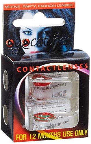 Eyecatcher Color Fun X-mas - farbige Kontaktlinsen - Merry Christmas - rot/grün