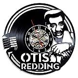 LKCAK Kreative Retro- Retro- Klippe der Aufzeichnungswanduhr auf der Goldfischprinzessin Hayao Miyazaki-Vinyluhr Vinylquarzbewegung einfache Persönlichkeitsdekorationwohnzimmerwanduhrrekorduhr