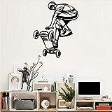 Mrhxly Arte Skateboard Ride Ragazzi Adesivi Murali Carta Da Parati Per Grandi Spazi Poster Per Pareti Da Camera Per Ragazzi Adesivo Poster Rimovibile56 * 70Cm