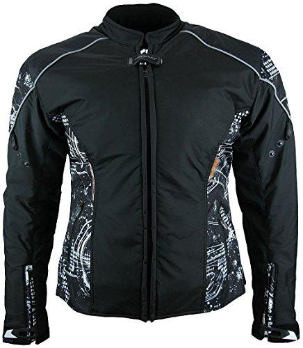 Heyberry Damen Motorrad Jacke Motorradjacke Textil Soft Shell Schwarz Gr. XXL/44 - 2