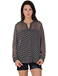 Mind The Gap Party Full Sleeve Printed Women's Top