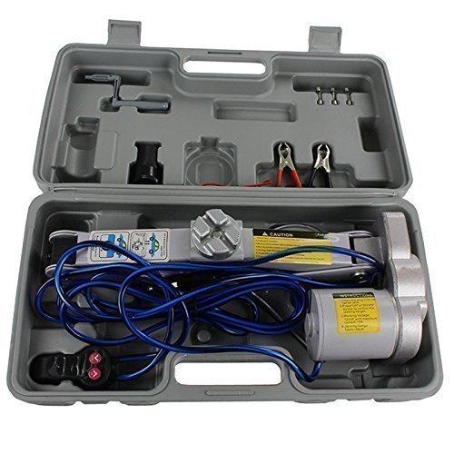Qualtex 2 Ton 12 V Elektrische Auto Schere Wagenheber 2 Tonnen 4000LB Kapazität (Wagenheber, 4000)
