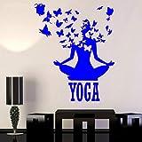 yaoxingfu Yoga Zentrum Pose Lotus Meditation Buddhismus Vinyl Wohnkultur Wandaufkleber Removable...