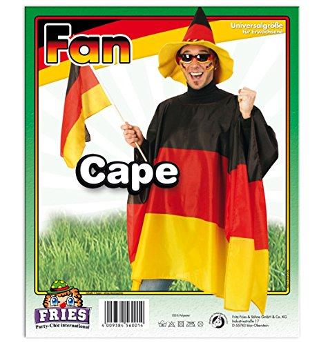 Preisvergleich Produktbild Kostüm Zubehör Cape Deutschland Sport Fan 90x150cm