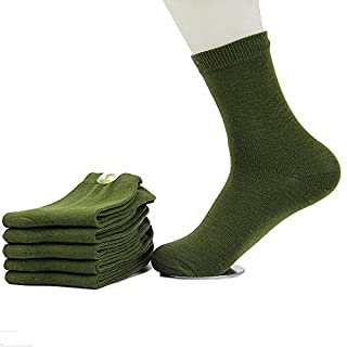 Eagsouni® 5 Paar Herren Baumwolle Socken komfortabel Dicker Business Freizeit Socken Täglich Socken Militärsocken