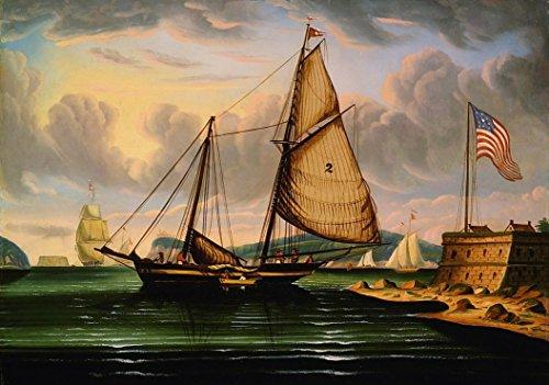 Thomas Chambers: New York Harbor with Pilot Boat