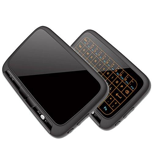Mini beleuchtete Bluetooth Tastatur mit Touchpad/Maus,Gintenco 2.4GHz drahtlose tragbare Tastatur für PC,Android TV Box, Google TV Box, Xbox 360, HTPC, IPTV,Lunix etc.