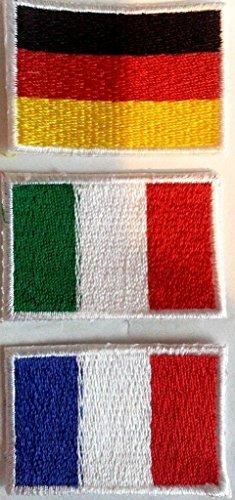 Parches Banderas italiana Francia Alemania parche