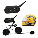 6 Riders 1300M Motorrad Bluetooth 3.0 Helmsprechanlage Gegensprechanlage Helm Intercom mit Noise Reduction Headset