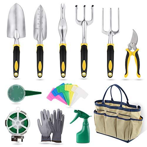 YISSVIC Outils de Jardinage 12Pièces Sac de Rangement...