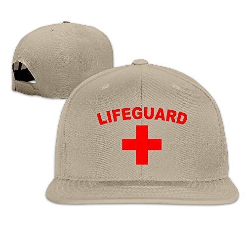 Hittings Life Guard And Lifeguard Logo Snapback Hats Flat Brim Baseball Cap Natural -