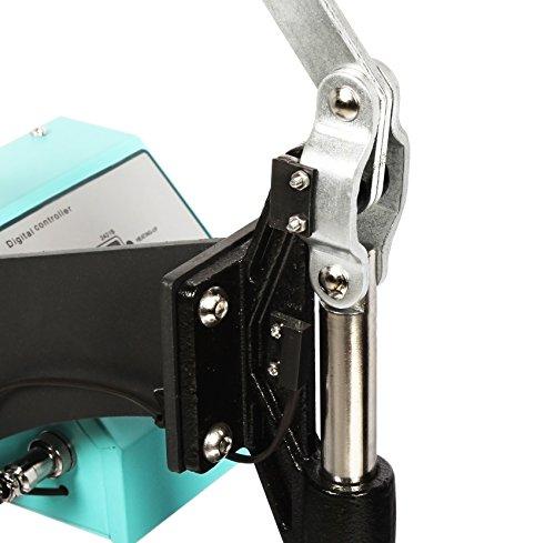 RICOO Transferpresse Ricoo T505 Textildruckpresse Textilpresse Thermopresse T-Shirtpresse Sublimation geignet für Flexfolie und Flockfolie | Farbe: Türkisblau - 3