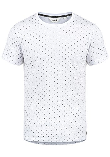 Solid V-neck Tee (!Solid Aaron Herren T-Shirt Kurzarm Shirt Mit Rundhals-Ausschnitt Und All-Over-Print, Größe:XL, Farbe:White (0001))