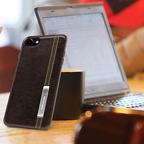 iPhone Case Cover NILLKIN Phenom Housse pour iPhone 7 Business Style en Cuir Surface PC Housse Protectrice avec Cadre Soft TPU et Porte Magnetic Meatl ( Color : Coffee ) Coffee