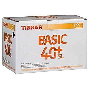 Tibhar Ball Basic 40+ SL 72er weiß, weiß