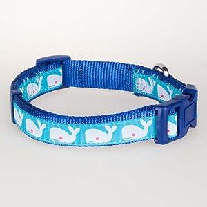 Blueberry Pet 2,5cm Ocean Beach Thème Basic Polyester Nylon Collier de Chien, Grande