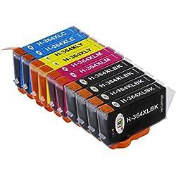 Nueva sustitución EBY para cartuchos de tinta HP 364 364XL Compatible para HP Photosmart 5510 5520 5522 6520 B8550 C5388, HP Officejet 4620, HP Deskjet 3070A (4 negro, 2 cian, 2 magenta, 2 amarillo)