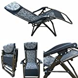 'Amaze' Folding Zero Gravity Recliner push back easy relax portable Outdoor Indoor Sea beach swimming pool Garden Farm House Sun bed lounger Chair-03 C