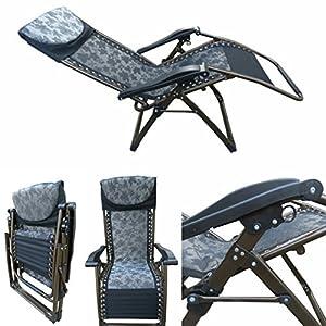 """Amaze"" Folding Zero Gravity Recliner push back easy relax portable Outdoor Indoor Sea beach swimming pool Garden Farm House Sun bed lounger Chair-03 C"