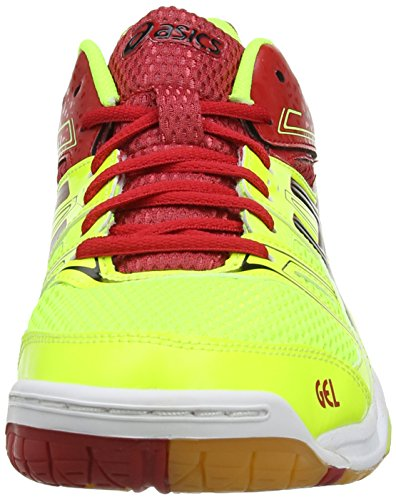 ASICS Gel-Rocket 7, Volleyball Hommes Jaune (Flash Yellow/Black/Chinese Red 790)