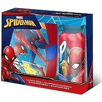 Preisvergleich für Marvel Spiderman Brotdose und Aluminium Trinkflasche Set