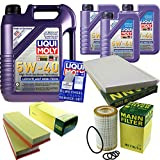Filter Set Inspektionspaket 8 Liter Liqui Moly Motoröl Leichtlauf High Tech 5W-40 MANN-FILTER Innenraumfilter Luftfilter Ölfilter