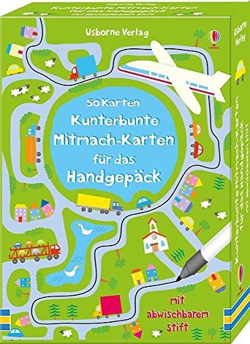 Preisvergleich Produktbild Kunterbunte Mitmach-Karten für das Handgepäck: 50 Karten mit abwischbarem Stift