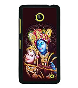 printtech Lord Radha Krishna God Back Case Cover for  Nokia Lumia 630 3G