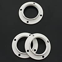 Set of 3 E14 Ring Plastic White for Lamp Holder Ring for Lamp Shade Glass Elements from Christoph Palme Leuchten