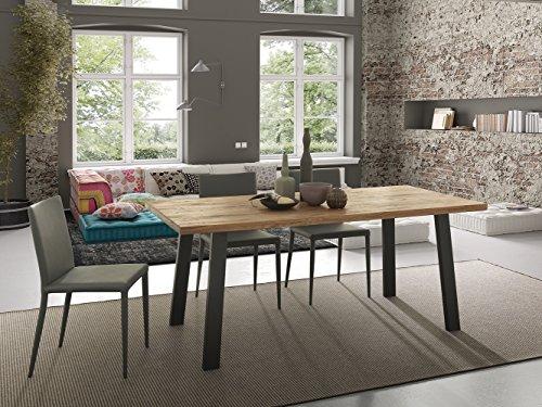 Altacom Esstisch Pisa | Tisch | Küchentisch | Eiche massiv | 180 x 90 cm |