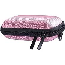Baxxtar PURE S - Funda rígida para cámara digital (6 x 2,5 x 9,9cm) con trabilla para el cinturón y correa bandolera) color rosa