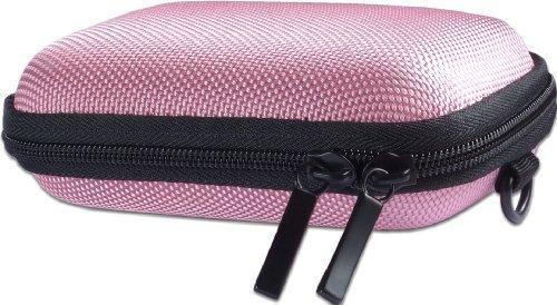 Bundlestar Hardcase PURE S Kameratasche mit Schultergurt und Gürtelschlaufe (passend zu: Siehe Produktmerkmale) (pink) (Sony Wx350 Camera Case)