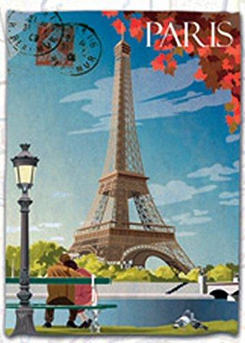 TORCHON DE CUISINE 45x65 cm AMBIANCE CARTE POSTAL PARIS TOUR EIFFEL FRANCE