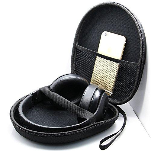 The Best Kingdom Kopfhörer Tasche für on Ear/Over Ear Headset, Ohrhörer Schutzhüllen Case, 21 x 18.5 x 6cm, schwarz