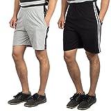 V3Squared Solid Grey & Black Shorts Comb...