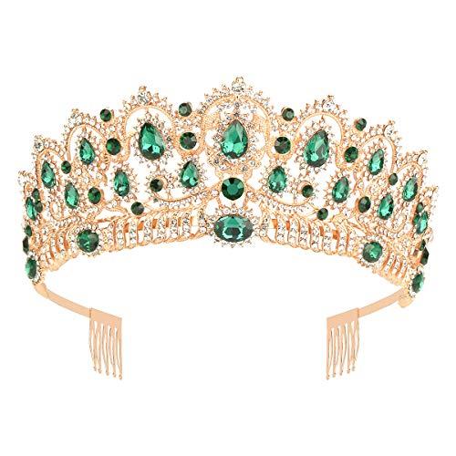Makone Corona di diadema di Cristallo Pettine di Strass per Matrimoni Proms da Sposa Concorsi Feste di Compleanno Compleanno