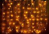 Lichtervorhang 120 Lichter Innen weiß Lichterkette