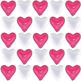 bestehemden 50 große Premium Herz Luftballons 25 pink 25 weiß Ø 30cm Helium geeignet Markenqualität Party Hochzeit Geburtstag Herzluftballons